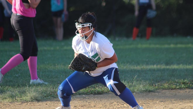 Knox County's Daniela Dooley fields a ground ball during practice.