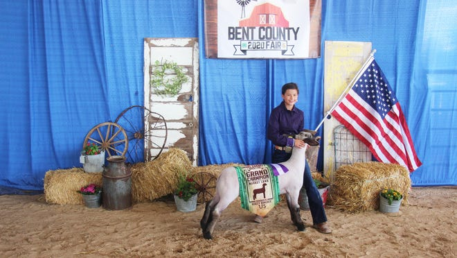 Roree Willbanks was awarded grand champion for sheep at the Bent County Fair on Thursday.