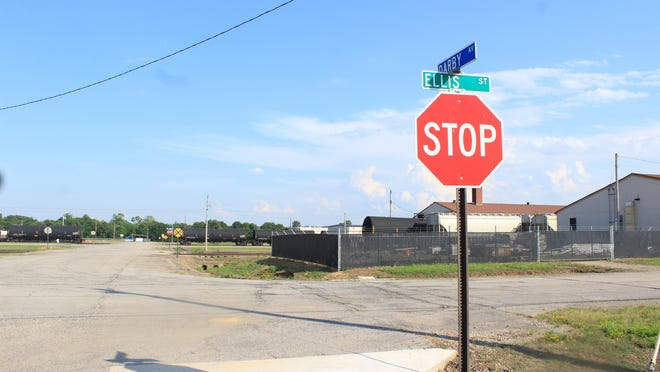 The intersection of Darby and Ellis roads in Chaffee Crossing is seen Tuesday, June 16, 2020. The Fort Smith Board of Directors on Tuesday evening passed an ordinance to rezone the south corner of the intersection into a planned zoning district.