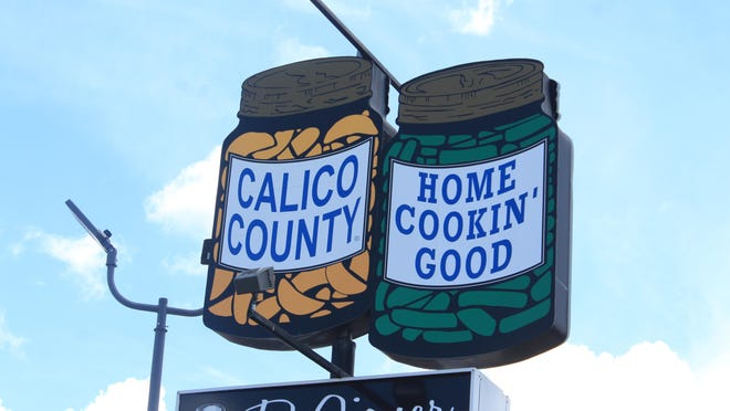 The Calico County restaurant sign is seen Wednesday, July 22, 2020, in Fort Smith.