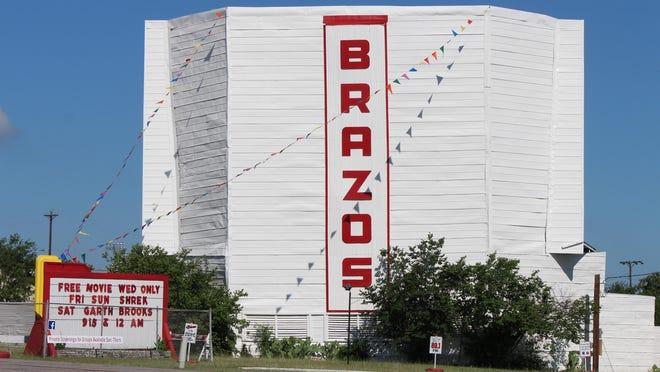 The Brazos Drive-In Theatre in Granbury.