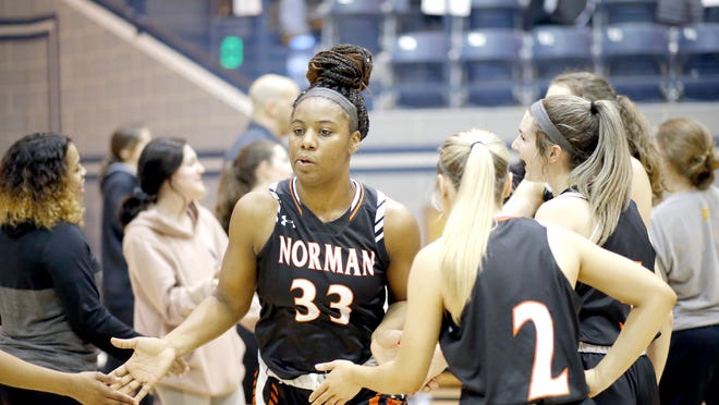 Norman's Chantae Embry, who commited to Texas Tech on Thursday,  averaged 16.8 points, 10 rebounds, 2.3 steals and two assists as a junior last season for Norman High School  which competes in Class 6A, the highest in Oklahoma.