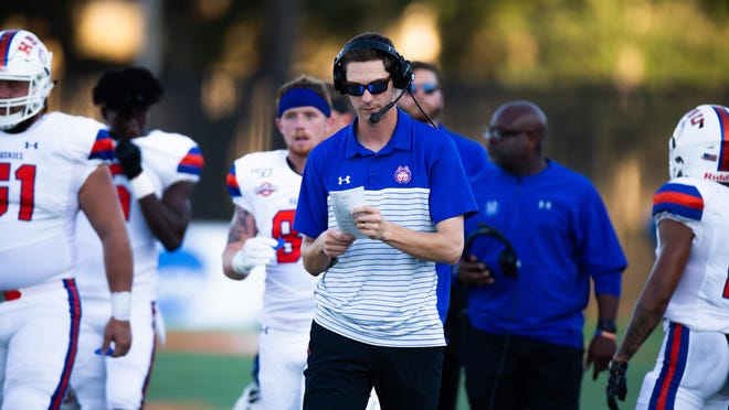Houston Baptist offensive coordinator and quarterbacks coach Zach Kittley was on Kliff Kingsbury's Texas Tech staff from 2013-17. HBU plays the Red Raiders on Saturday in Jones AT&T Stadium.