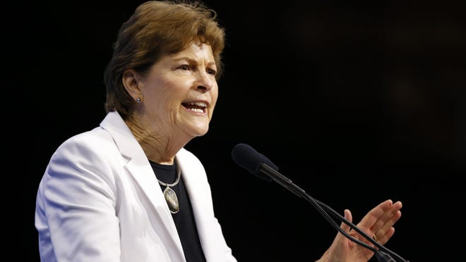 Sen. Jeanne Shaheen, D-N.H., speaks during the New Hampshire state Democratic Party convention Sept. 7, 2019, in Manchester.