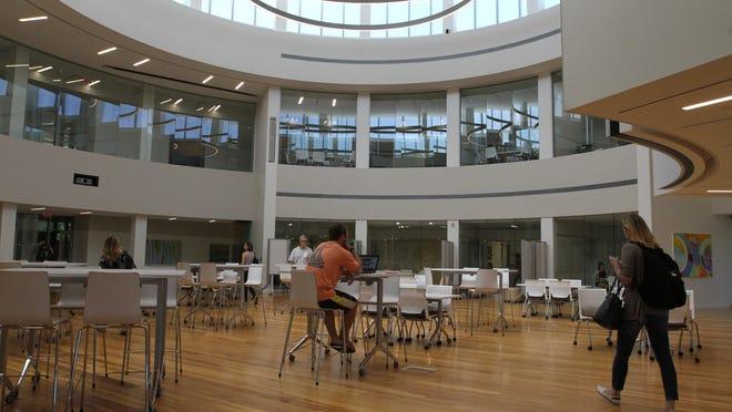 Inside the Academic Innovation Center at Bryant University.