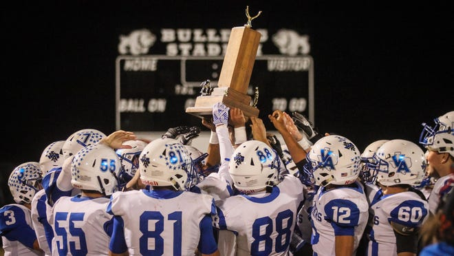 The Van Alstyne Panthers wont' be able to defend their hold on the Silver Spike rivalry with next-door neighbor Howe after the program is headed to Class 4A thanks to the latest realignment.