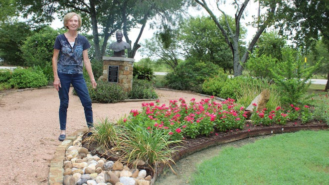 Rockne Museum manager Ovon Goertz has been keeping the museum open and the grounds beautiful all summer.