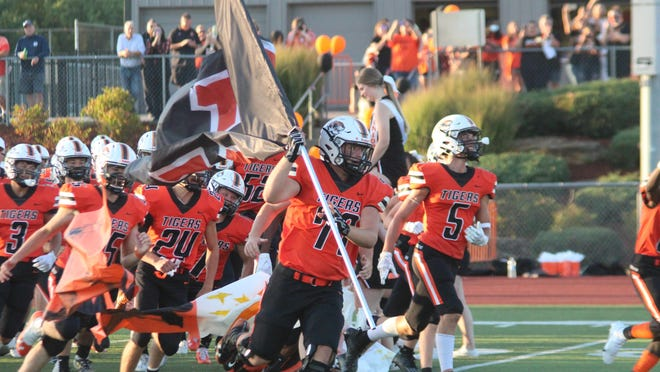 Kirksville takes the field before a game against Chillicothe.