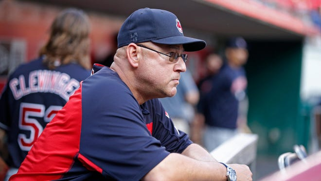 """Cleveland Indians manager Terry Francona, after much consideration, said on Sunday that """"I think it's time to move forward,"""" regarding the team's name. [AP, file /]Gary Landers)"""