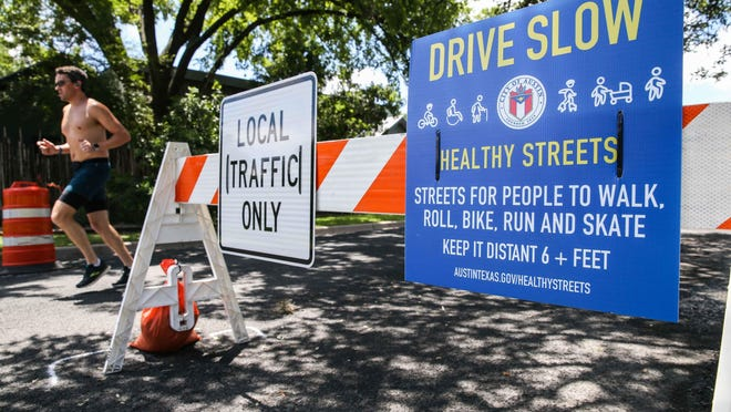 A section of Bouldin Avenue was closed by the City of Austin as part of its Healthy Streets program.