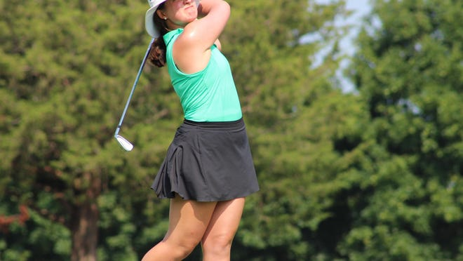 Alexis Florio, the 2017 RIIL Girls Golf Champion from her time at Cranston West, earned a spot in the RIGA Women's Amateur final with a 5-and-4 win over Isabel Southard Thursday at Montaup Country Club in Portsmouth.