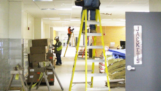 A recent photo of construction taking place at Stephenville High School.