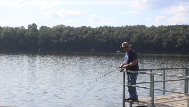 Jim Hughes takes in a little fishing time at Lake Alma on Wednesday. This weekend's weather calls for plenty of sunshine and time for more fishing with lows in the upper 50s and highs in the upper 70s/low 80s.