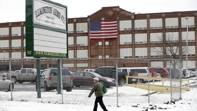 Remington Arms workers in Ilion are on paid leave due to a lack of materials for production, company representatives said Friday.