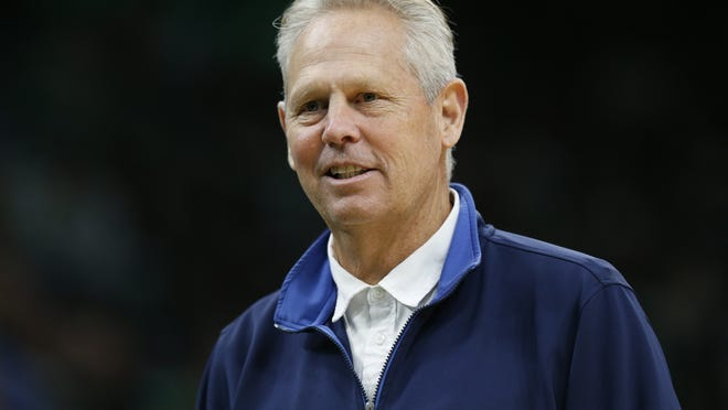 Boston Celtics  general manager Danny Ainge during the first half against the Chicago Bulls at TD Garden on Jan. 13, 2020.