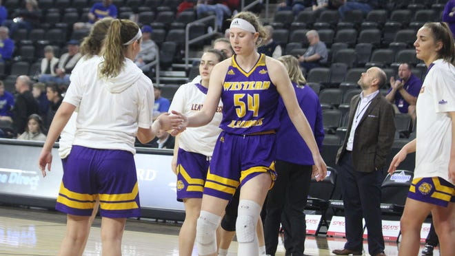 Western Illinois' Evan Zars is introduced before the Summit League Tournament last March.