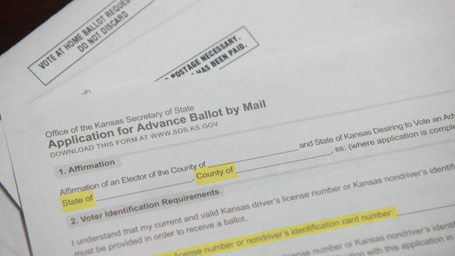 Some Shawnee County residents recently received mailings containing blank, unsolicited applications they may mail in to receive Shawnee County mail ballots, said election commissioner Andrew Howell.