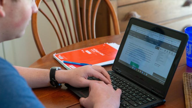 Legislators are considering a proposal that could allow students whose districts have opted for remote instruction for a prolonged period of time to receive funds that would let them attend a private school. (May 2020 file photo/The Capital-Journal)