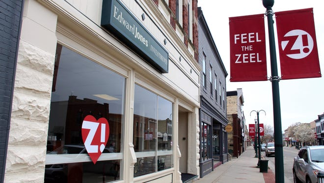 Zeeland's downtown businesses are mostly located along several blocks of Main Avenue. The city council voted to authorize the future closure of Main if downtown restaurants report the need to expand outside in order to serve more customers.