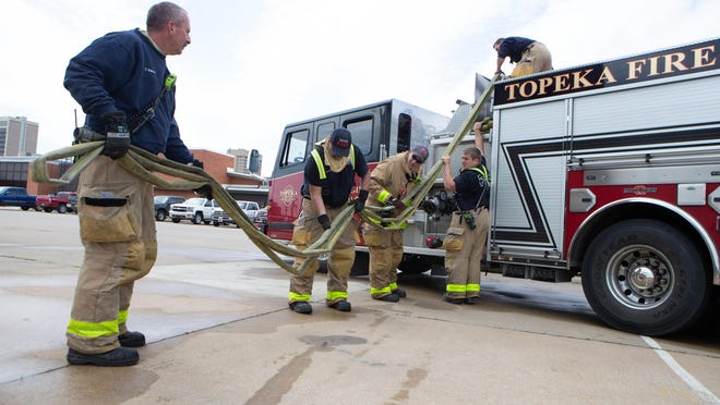 Topeka Fire Department crews responded to a structure fire Friday morning at 1828 S.W. Central Park Ave.