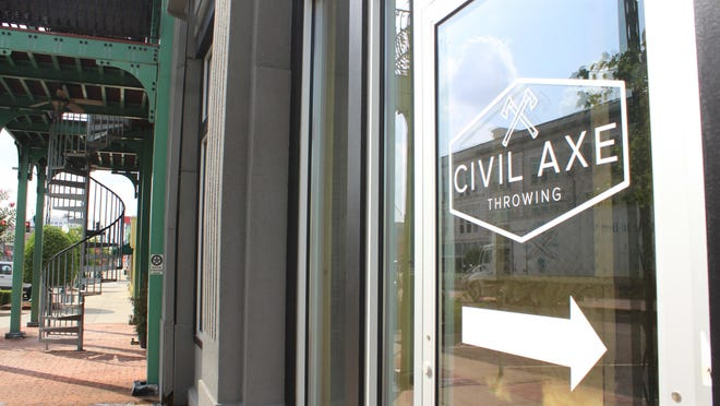 Civil Axe Throwing is seen next to 1115-1117 Garrison Ave. on Wednesday, July 1, 2020, in downtown Fort Smith.