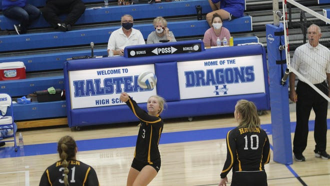 BrieAnn Brawner is one of four returning starters for the Havne volleyball team this season.
