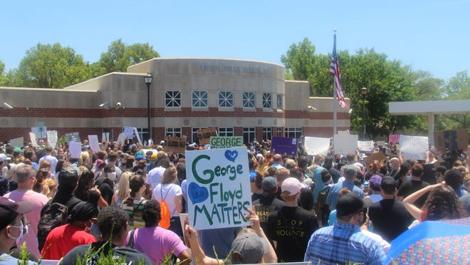 Approximately 2,000 from around the Wichita area, including those in Harvey, Butler and Sumner counties listened to speakers in hopes of justice for George Floyd on Saturday, May 30 in Wichita, Kansas.