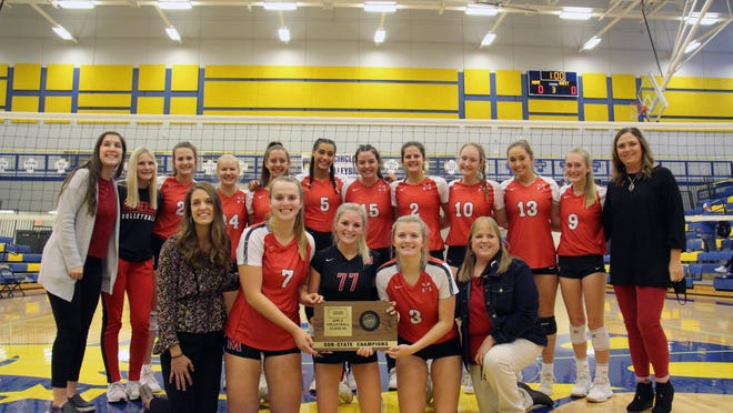 The McPherson High School volleyball team won the sub-state championship at Circle on Saturday.