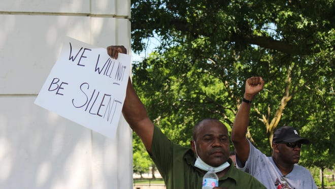 Saturday was the first Black Lives Matter march and rally in McPherson.  A two mile march was followed  by a rally at Lakeside Park.
