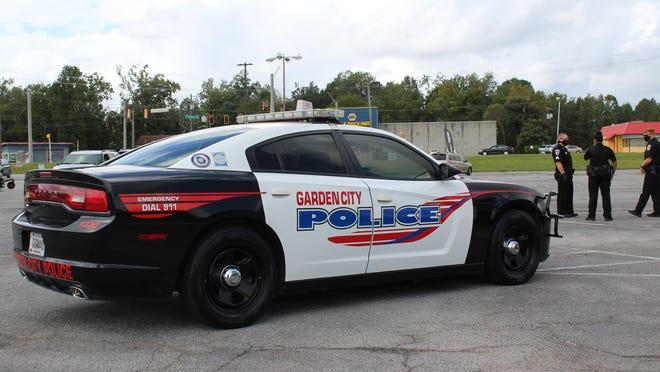 A Garden City police cruiser.