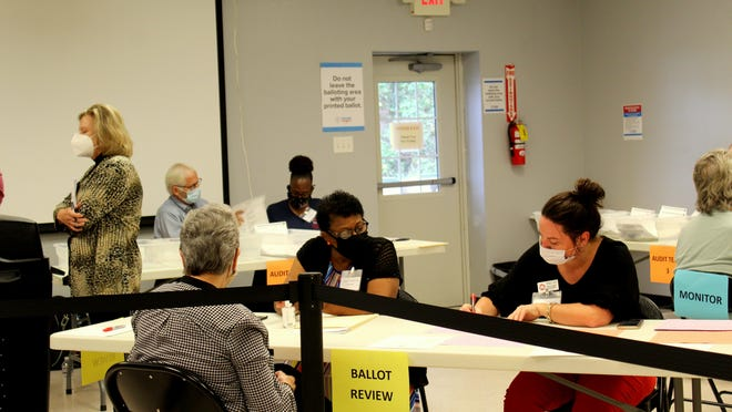 Ballots were hand counted on Friday and Monday. [DEBBIE RAFTER/FOR EFFINGHAM NOW}