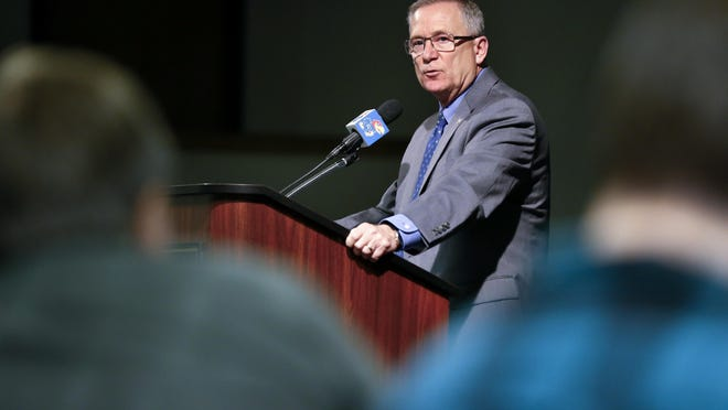 KU athletic director Jeff Long said Tuesday that his department is projecting a 15% to 20% drop in revenue for the upcoming fiscal year, even if the football and men's basketball seasons run uninterrupted.