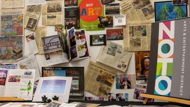 "A selection of newspaper clippings, posters and other NOTO-related print ads are on display in the new gallery ""Influences on NOTO: A Historical Review of North Topeka"" at the NOTO Arts Center, 935 N Kansas Ave."