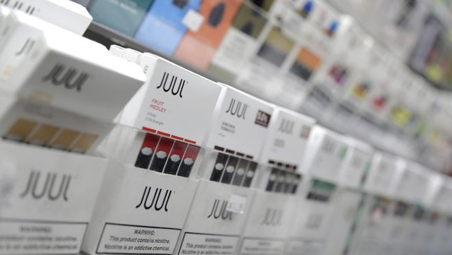 A display of Juul vaping products