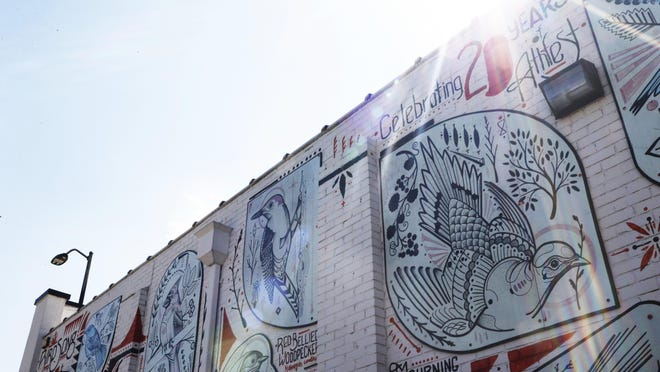 David Hale's AthFest Educates mural in downtown Athens, Ga, Tuesday, April 2, 2019.