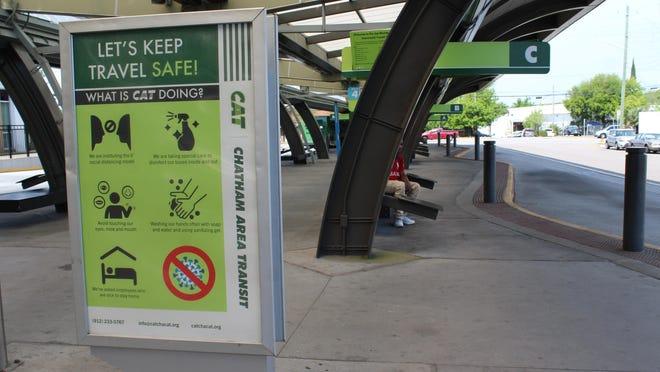 Savannah's Joe Murray Rivers Jr. Intermodal Transit Center, the main hub for Chatham Area Transit buses.