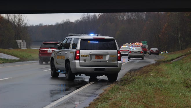 Two people died in a single-vehicle crash on U.S. 321 south on Thanksgiving morning.
