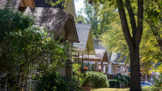 Homes in the College Hill neighborhood, an area in which the housing study recommended the city invest.