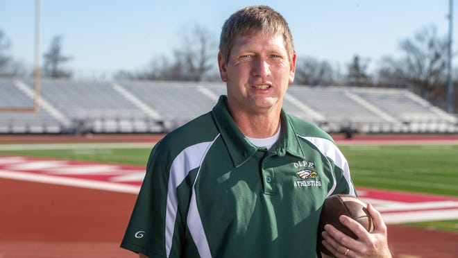 Olpe coach Chris Schmidt led his team to a 13-0 mark and the Class 1A state championship this year, his second state title. Schmidt is The Topeka Capital-Journal's 2020 state coach of the year.