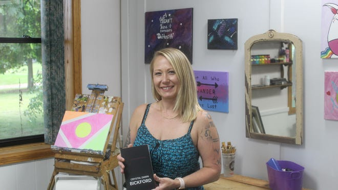 """Crystal Dawn Bickford, an artist and author from the Adrian area, recently published her second book, """"(a little black book)."""" The book is a series of short stories about sex and sexual desire."""