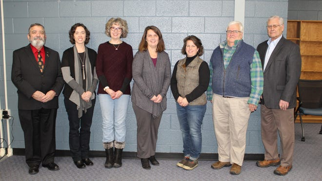 The members of the Cheboygan Area Schools Board of Education, seen here with former board member Jenny Hayden (second from left) were formally recognized by the school district's superintendent during School Board Recognition Month. Not pictured are board member Pat Bolen, and newly elected board member Julie Lohela. Tribune File Photo