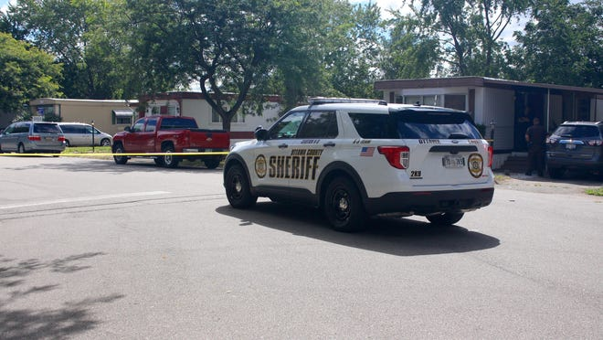 The Ottawa County Sheriff's Office responds to a homicide at 523 Butternut Drive in Holland Township Sunday, Aug. 30, 2020.