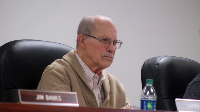 Ionia County Board of Commissioners Vice Chairman Larry Tiejema, District 2, sits at the Committee of the Whole meeting on Jan. 15, 2019, at the Ionia County Administration Building, 101 W. Main St., in Ionia.