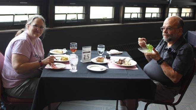 Karen and Tom Scheetz of Sturgis enjoy brunch at Sturges-Young Center for the Arts.