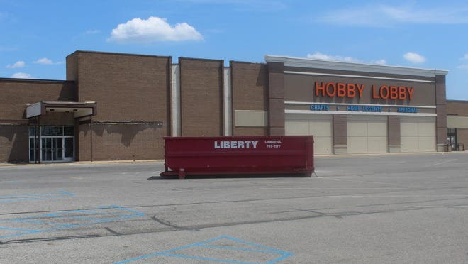 A dumpster sits out front of the former Sears building on Saturday. It was confirmed to The Daily Telegram that Ollie's Bargain Outlet will be the next tenant of the building. Hobby Lobby had been the only tenant since 2013. Ollie's is expected to open at either the end of this year or early 2021.