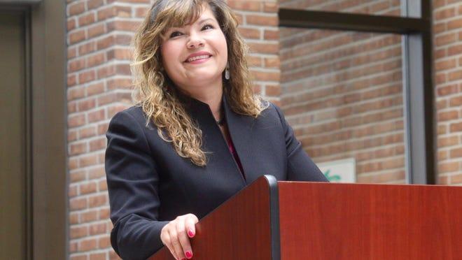 Ottawa County assistant prosecutor Juanita Bocanegra announces her run for 58th District Court judge on Wednesday, Dec. 4, 2019.
