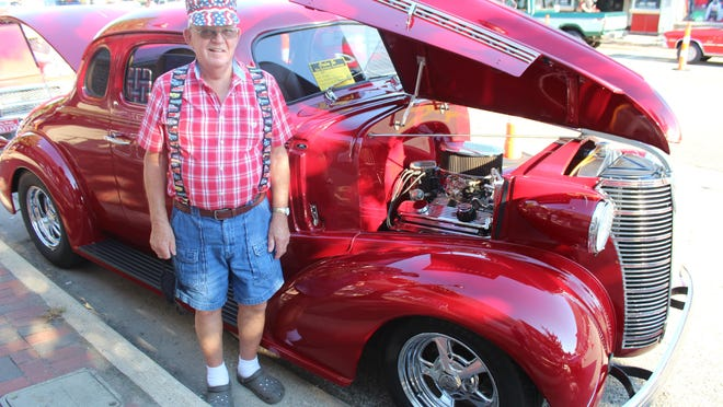 Wallace Mesler of Colon brought his 1938 Chevy Coupe street rod to the Summer Car Cruise-In & Eats on Friday.