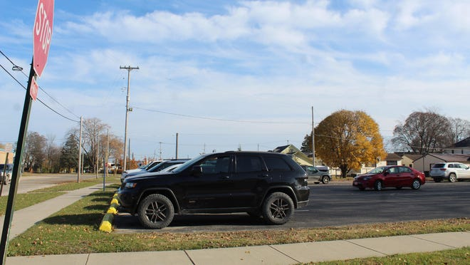 The parking lot at the corner of Bailey Street and Division Street in the City of Cheboygan is owned by Cheboygan Area Schools and the school district has received an offer on the property, which was accepted at Monday night's school board meeting. Tribune File Photo by Kortny Hahn