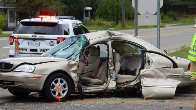 This vehicle was struck by a driver who failed to obey a four-way stop in Holland Township in 2019. According to crash data released by the Ottawa County Sheriff's Office, there were fewer crashes in Ottawa County in 2020 than in 2019.
