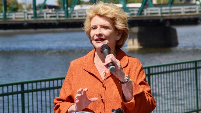 U.S. Sen. Debbie Stabenow, D-Michigan, speaks at Sixth Street Park in Grand Rapids, Mich. on Friday, Aug. 23, 2019. Stabenow will chair the U.S. Senate Committee on Agriculture, Nutrition and Forestry during the 2021-22 congressional term.